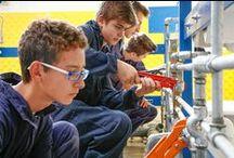 Le Qualifiche: Termoidraulico / Prepariamo i ragazzi a diventare operatori termoidraulici, una delle figure professionali più richieste dalle aziende, specialmente nell'ambito delle nuove tecnologie.