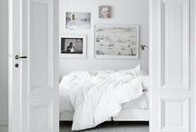 B E D R O O M S / Inspiration board for interiors for bedrooms, pictures for bedroom wallpaper, rugs, frames, beds, wardrobes, bedside tables and more.