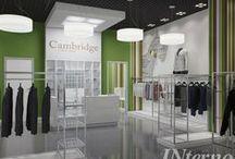 Магазин одежды Cambridge / Дизайн магазина мужской одежды 80 м2