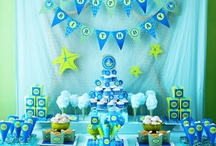 Party Ideas / From food and buffet table setups, to decorating for a party (minus the centerpieces, they have their own board.)  Ideas for Birthday Parties, Baby Showers, Wedding Showers and More......