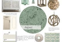 GEOS   Aspen / GEOS Recycled Glass Surfaces   Countertops in the serene color Aspen...a soft green.  GEOS is the DIFFERENT recycled glass surface! BEAUTIFUL. SUSTAINABLE. STRONG.