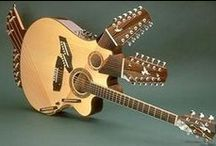 Things with Strings / Guitars & Other String instruments that are, Unusual, Steampunk, Vintage & One Offs  / by Tim Trimble
