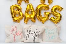 Wedding Welcome Bags / Bash Bags™ are a great way to welcome your guests on your big day! It will have them remembering your wedding for years to come.