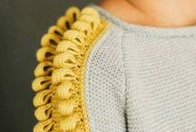 Embellishments / Knitting techniques, knitwear embellishments, fashion details, beading, lacework, embroidery, interesting stitches and details in fashion design and handmade clothing!