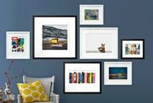 Wall Arrangement / Beautifully decorated walls: photos, art, posters, frames