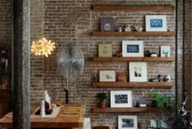 Bricks / Concrete in Interior / Brick and concrete walls, floors, columns, decor...