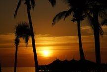 Sunrise and Sunset / Exquisite colors of Huma Island Resort & Spa