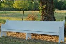 Vintage Church Pews / Church pews we have available for rent.