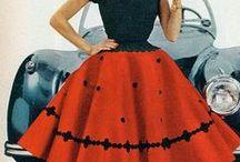 Tanssimekkoja ja muuta ihanaa / 1950-luvun tyylisiä naisten vaatteita ja asusteita
