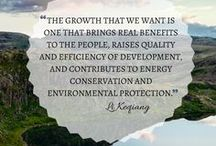 Inspirational Quotes / Inspirational quotes about environmental protection, health, industry, business and safety.