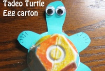 Tadeo Turtle Creative Art Projects / A 24 page curriculum for Tadeo Turtle by author/illustrator Janis Cox is available by emailing me. Check out my website www.janiscox.com