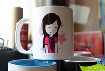 With the eyes closed MUGS! / Personilized mugs by With the eyes closed. Canecas com desenho personalizado  info@withtheeyesclosed.com