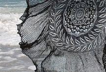 Lace drape