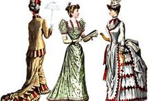 Fashion Prints 18th and 19th Century. / A fashion plate is an illustration demonstrating the highlights of fashionable styles of clothing. Originating in the 16th century first circulated at the end of the 18th century and popular during the 19th and early 20th centuries