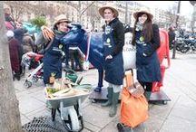 Monpotager.com, opération de street marketing au #SIA2014 / Ces drôles de jardiniers ont chaussés leurs bottes pour vous présenter le nouveau concept de #potagers connectés : Monpotager.com ! #SIA2014