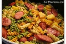 Pasta Recipes / Pasta is filling, cheap and versatile.  You can make a pasta dish within 30 minutes for a family dinner.  See more at - http://www.ez-dinnerideas.com/pasta-recipes.html
