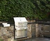KITCHENS / Outdoor Kitchens - masonry, granite, built-in appliances, bars