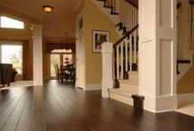 Hardwood Floors / It's natural, pleasing to the eye, and soft underfoot.  Hardwood flooring has been used for centuries, and to this day it remains the most popular choice throughout North America.  With so many variations in colors and patterns among domestic and exotic woods, your personal design preferences will be satisfied with ease.