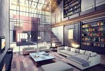 Interior design inspiration / Beautiful interiors of buildings, homes & spaces.