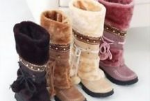 Boots / #Beautiful #Boots #cosy  These are boots I love that I'd like to own. Cosy warm ones and just lovely ones