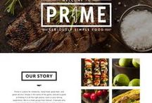 F&B Websites / Websites that are tied in with F&B products restaurants and services.