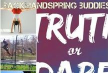 my youtube videos / please follow my youtube account ( backhandspringbuddies )
