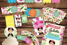 Frida Birthday Party! / Frida Kahlo party printables. Frida party decoration. Custum and printable bothday kit. We are in Etsy!