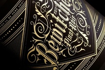 Typography, Fonts and Type Face ♚ / I love typography and using it in art work