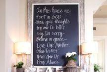 Chalkboards ♚ / Chalkboard ideas - my love of chalkboards