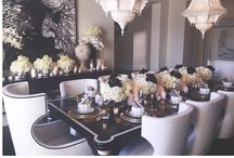 Dining Room Living♡ / Mix high drama and glamorous opulence to create the perfect entertaining space / by Cyndi💕