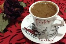 Gerçek Kahve...Türk kahvesi! / Turkish Coffee ...Black as Hell, Strong as Death, Sweet as Love...  / by Ela Nur Heweline