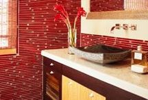 Marsala: 2015 Color of the Year / Marsala was named the Pantone 2015 Color of the Year. Bathroom designs featuring marsala are below.