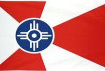 Wichita Flag / Boosting civic pride since 1937 as the official flag of the city of Wichita. #WichitaFlag #ILoveWichita