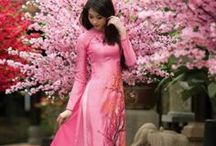 Fashion // The Couture of Viet Girls / Gorgeous traditional Vietnamese dresses