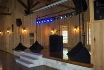 Sound with Stage Lighting / Four hours of non-stop DJ/MC Service,  Two Speakers, Console, Wireless Microphone and (12) Stage Lights on 18' Light Truss