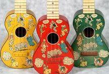 Ukuleles- Soprano Decorated / My wish list of Soprano Ukuleles and Banjoleles with Interesting original artwork, inlay, stencil or decal decorations https://sites.google.com/site/ukulelecorner/home/might-come/soprano/decorated-soprano