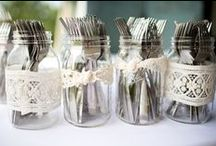 Rustic Wedding {FiveSense Farm} / There's a reason why rustic wedding themes are so popular: they are beautiful! Whites, cremes, mason jars, and burlap have turned out to be a perfect combination for a picture perfect wedding.