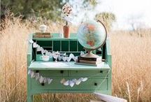 Bon Voyage Wedding {FiveSense Farm} / Travel themed weddings are a lovely way to celebrate the new adventure of marriage! If you and your sweetie are a lover of travel or you just can't keep from collecting old suitcases, maybe a bon voyage wedding is right for you.