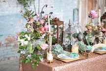 Vintage Wedding {FiveSense Farm} / The specifics of a vintage wedding are a little hard to pin down, but we like to think of it as a gilded, shabby chic look with touches of industrialism. Think skeleton keys, lanters, candlesticks, and old books.