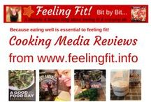 """Cookbooks Reviewed or Tested on www.feelingfit.info / Eating whole, healthy food is essential to """"feeling fit"""". Cooking food at home empowers us to eat well on a budget (or not). That doesn't mean we can't enjoy an occasional treat or dessert. It is about healthy moderation.  I frequently review cookbooks on www.feelingfit.info and test drive recipes. #foodie #cooking #fitfam #book"""