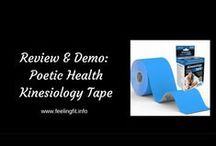 How To Use Kinesiology Tape / This is a curated Pinterest board to support the www.feelingfit.info review and demonstration of Poetic Health's Kinesiology Tape. Since there are so many application for kinesiology tape for recreational exercisers, weekend warriors or serious athletes I thought I would compile a few resources.
