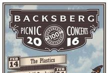 Picnic Concerts @ Backsberg / Bring your friends and family to enjoy the natural surrounds, laze on the green lawns and take in the spectacular scenery as the sun sets on Backsberg. Savour a beef burger or Karoo lamb wrap, sip on chilled Backsberg wines and listen to the incredible, live tunes of some of SA's incredible talent.