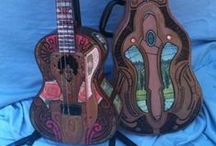 Ukuleles- Tenor Decorated / My wish list of Tenor Ukuleles and Banjoleles with Interesting original artwork, inlay, stencil or decal decorations