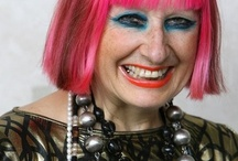 Zandra Rhodes / We have had the pleasure of meeting the lovely Zandra Rhodes a few times now. We stock her jewellery line and her bags which are due in shortly.