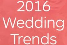 2016 wedding trends & ideas / Stay-up-to-date with the latest wedding trends for 2016/17 including reception ideas, DIY and color schemes for bridesmaids, flowers and other wedding details.