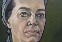 portraits by Iet Langeveld / paintings