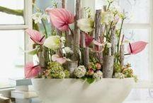 compos florales pour meubles