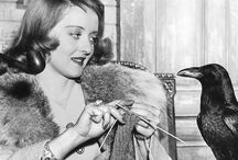 Knitting Stars / It seems the lovely actresses of the studio system era knew how to put their time to good use.