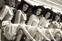 1 9 4 0 s / The 1940s- glamorous Hollywood, pin up girls, victory rolls, WW2 and big band music...
