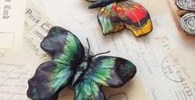 Seramik Kelebek-Çiçek